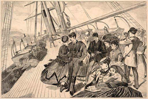Homeward Bound, from Harper's Weekly, December 21, 1867. Date: 1860s. Record ID: saam_1996.63.125.