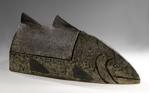 Fish-Shaped Box. Date: 1920s. Record ID: saam_1986.65.79.