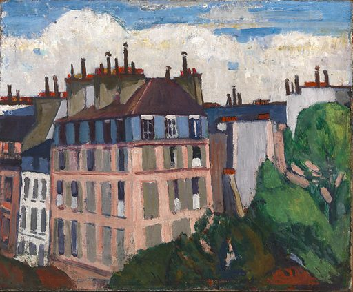Rooftops, Paris. Date: 1910s. Record ID: saam_1967.6.15.