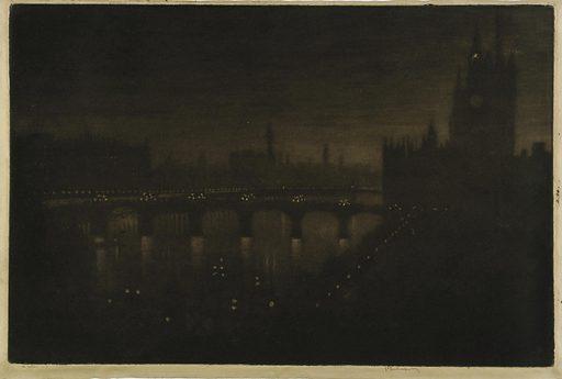 Westminster Night--From My Studio Window. Date: 1900s. Record ID: saam_1971.292.20.