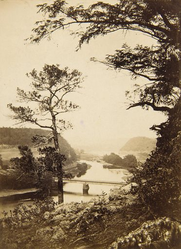 View of River with Bridge. Date: 1860s. Record ID: saam_1998.165.1.