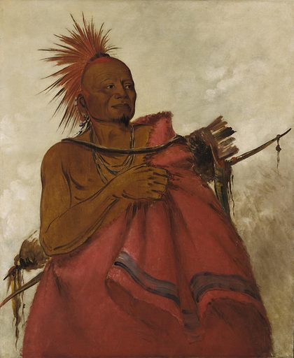 Tcha-tó-ga, Mad Buffalo, Murderer of Two White Men. Sitter: Mad Buffalo. Date: 1830s. Record ID: saam_1985.66.41.