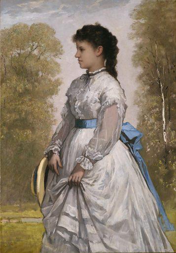 Portrait of Agnes Elizabeth Claflin. Sitter: Agnes Elizabeth Claflin. Date: 1870s. Record ID: saam_1985.27.