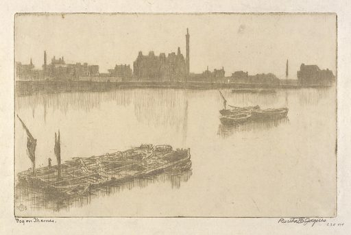 Fog on Thames. Date: 1910s. Record ID: saam_1935.13.474.