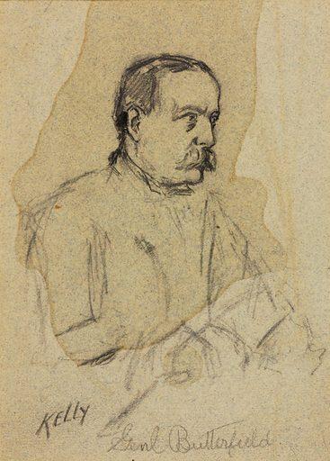 General Daniel Butterfield. Sitter: Daniel Butterfield. Date: 1900s. Record ID: saam_1967.136.12.