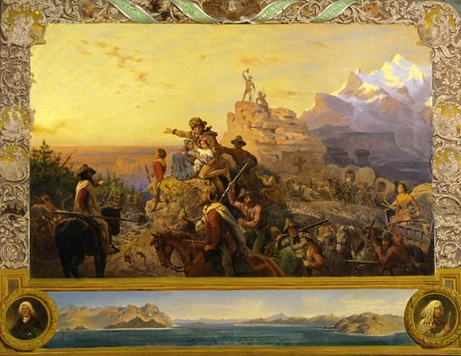 Westward the Course of Empire Takes Its Way (mural study, U.S. Capitol). Date: 1860s. Record ID: saam_1931.6.1.