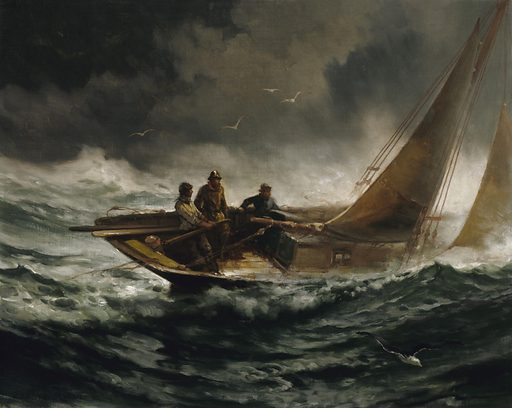 Riding out a Gale. Date: 1880s. Record ID: saam_1925.12.1.