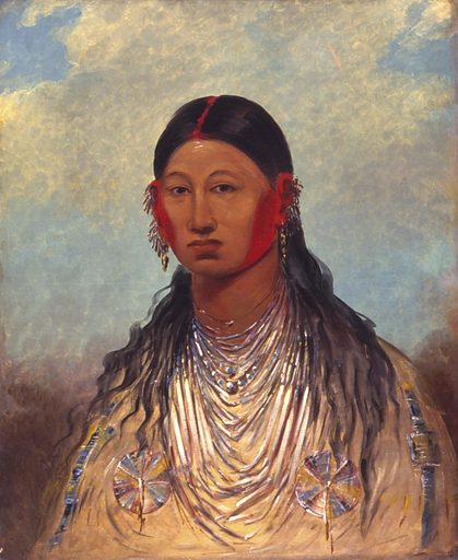Koon-za-ya-me, Female War Eagle. Sitter: Female War Eagle. Date: 1840s. Record ID: saam_1985.66.528.