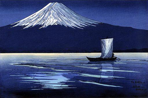 Moonlight on Mt. Fuji. Date: 1920s. Record ID: saam_1984.65.