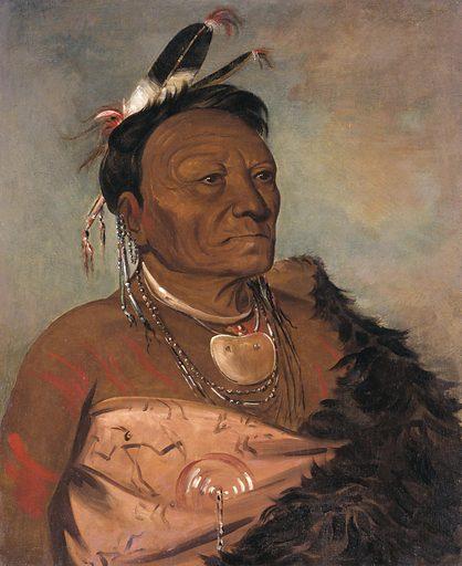 Wee-tá-ra-shá-ro, Head Chief of the Tribe. Sitters: Wee Ta Ra Sha Ro; Wee Ta Ra Sha Ro. Date: 1830s. Record ID: saam_1985.66.55.