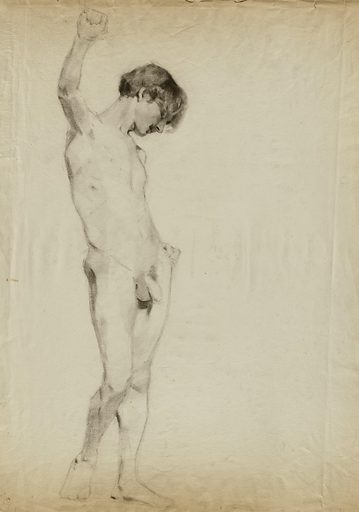 (Untitled) (Study of Standing Male Nude). Date: 1870s. Record ID: saam_1983.31.8.