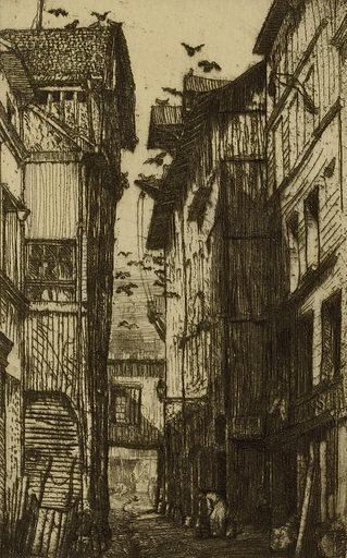 Ruelle des Pigeons, Rouen. Record ID: saam_1974.85.34.