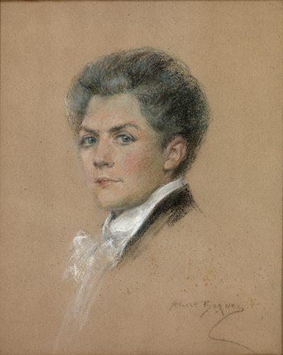 Marie Huet the Painter. Sitter: Marie Huet. Date: 1900s. Record ID: saam_1951.14.38.