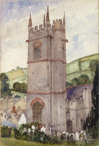 Church Tower, Marldon. Date: 1920s. Record ID: saam_1962.13.54.
