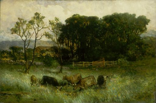 Untitled (five cows in pasture). Date: 1880s. Record ID: saam_1983.95.145.