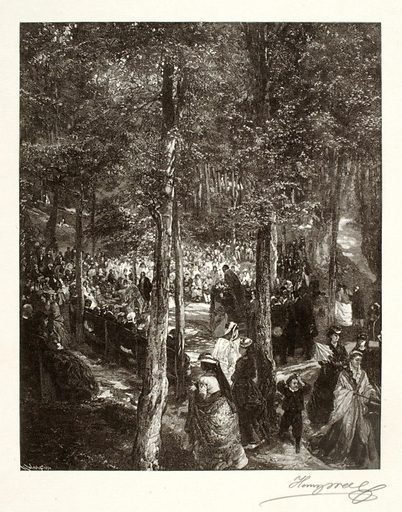 A Sermon in the Open Air. Date: 1890s. Record ID: saam_1973.130.59.