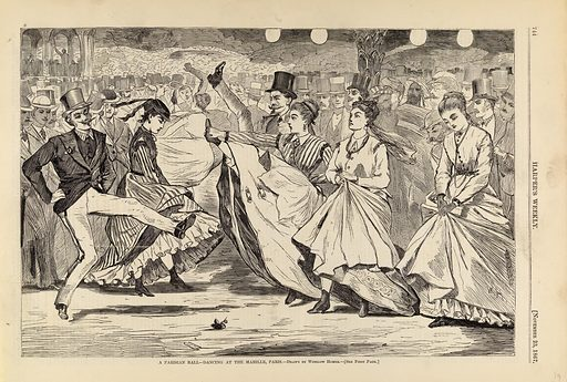 A Parisian Ball--Dancing at the Mabille, Paris, from Harper's Weekly, November 23, 1867. Date: 1860s. Record ID: saam_1996.63.62.