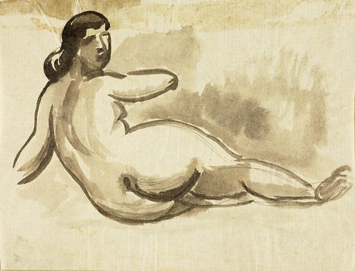 Reclining Female Nude. Record ID: saam_1967.63.235.