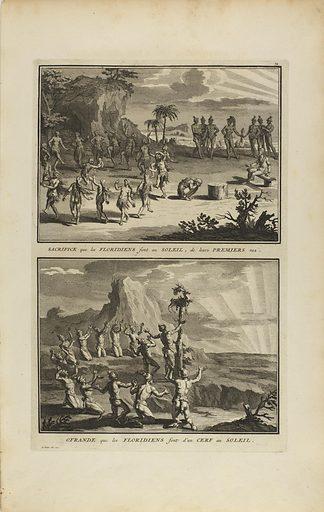 Sacrifice que les Floridiens Font au Soleil. Date: 1720s. Record ID: saam_1967.103.31.