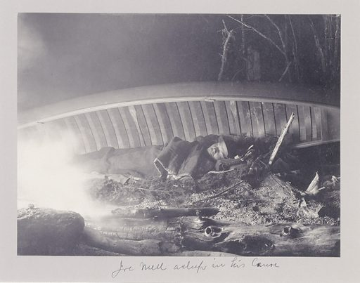 Joe Mell, Asleep in His Canoe. Sitter: Joe Mell. Date: 1890s. Record ID: saam_1994.91.186.
