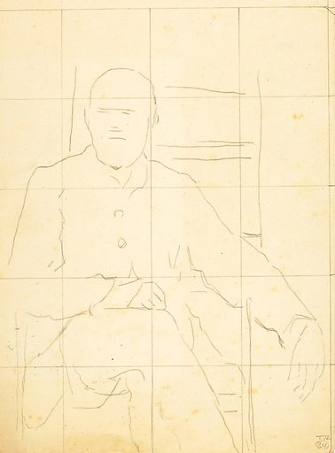 Elderly Man Seated in a Chair. Date: 1810s. Record ID: saam_1973.183.30.