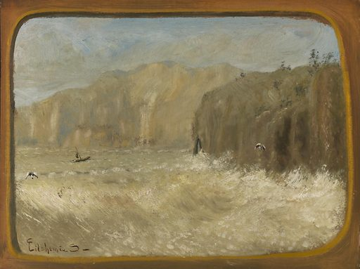 Two Gulls and Cliffs. Date: 1920s. Record ID: saam_1989.43.7.