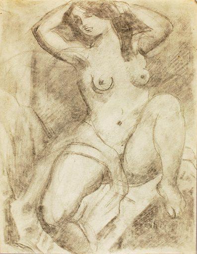 Female Nude Arranging Hair. Record ID: saam_1967.63.219.