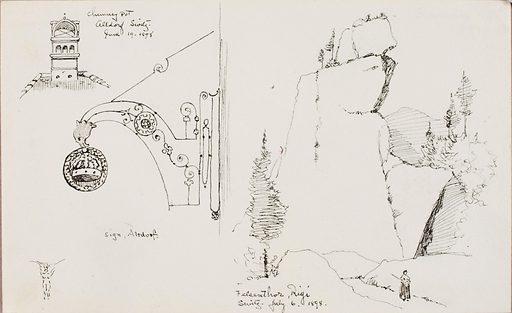 Chimney Pot, Altdorf, Switzerland/Felsenthor, Rigi, Switzerland. Date: 1890s. Record ID: saam_1983.83.251.