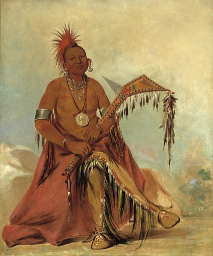 Cler-mónt, First Chief of the Tribe. Sitter: Clermont. Date: 1830s. Record ID: saam_1985.66.29.