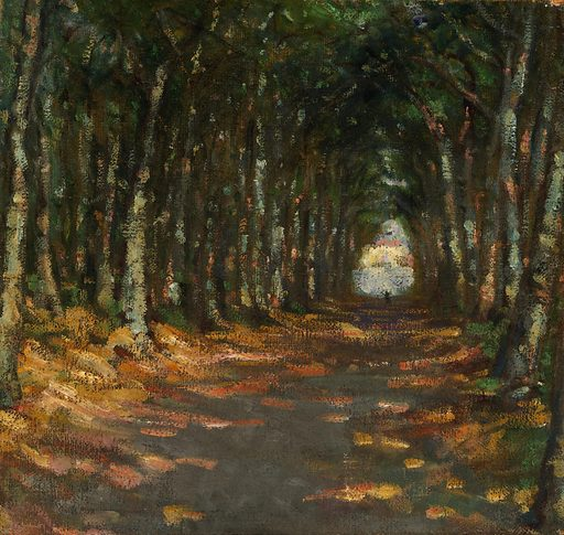 Allee dans le Parc. Date: 1900s. Record ID: saam_1952.13.6.