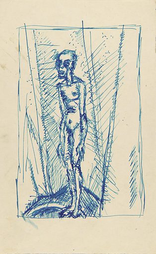 Standing Nude Man. Date: 1940s. Record ID: saam_1967.59.464.