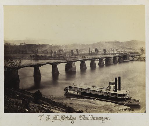 U.S.M. Bridge, Chattanooga. Date: 1880s. Record ID: saam_1974.30.1.