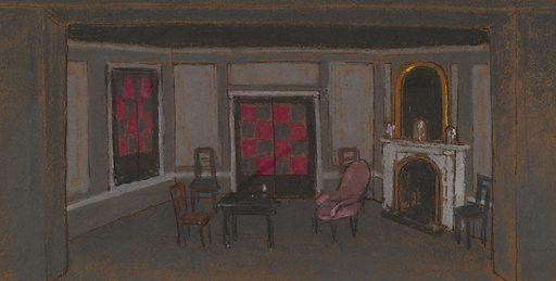 Alice's Living Room--False Proscenium (set design). Record ID: saam_1982.1.19.