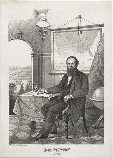 Edwin M. Stanton. Sitter: Edwin McMasters Stanton, 19 Dec 1814 – 24 Dec 1869. Date: 1850s. Record ID: npg_NPG.2018.136.