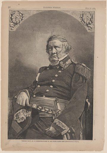 General Winfield Scott. Sitter: Winfield Scott, 13 Jun 1786 – 29 May 1866. Date: 1860s. Record ID: npg_S_NPG.80.21.
