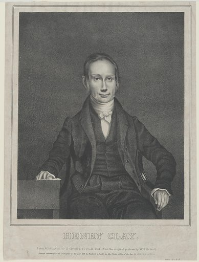Henry Clay. Sitter: Henry Clay, 12 Apr 1777 – 29 Jun 1852. Date: 1830s. Record ID: npg_NPG.77.333.
