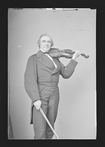 Ole Bornemann Bull. Sitter: Ole Bornemann Bull, 5 Feb 1810 – 17 Aug 1880. Date: 1860s. Record ID: npg_NPG.81.M215.