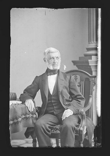 George Bancroft. Sitter: George Bancroft, 3 Oct 1800 – 17 Jan 1891. Date: 1860s. Record ID: npg_NPG.81.M360.