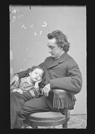 Edwin Booth and daughter Edwina. Sitters: Edwin Thomas Booth, 13 Nov 1833 – 7 Jun 1893; Edwina Booth Crossman, 9 Dec 1861 – 25 Dec 1938. Date: 1860s. Record ID: npg_NPG.81.M36.