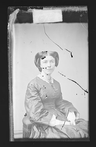 Mary L. Booth. Sitter: Mary Louise Booth, 19 Apr 1831 – 5 Mar 1889. Date: 1860s. Record ID: npg_NPG.81.M452.