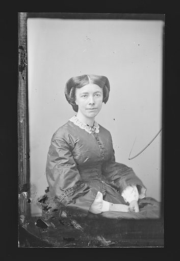 Mary L. Booth. Sitter: Mary Louise Booth, 19 Apr 1831 – 5 Mar 1889. Date: 1860s. Record ID: npg_NPG.81.M453.