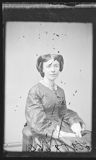 Mary L. Booth. Sitter: Mary Louise Booth, 19 Apr 1831 – 5 Mar 1889. Date: 1860s. Record ID: npg_NPG.81.M454.1.