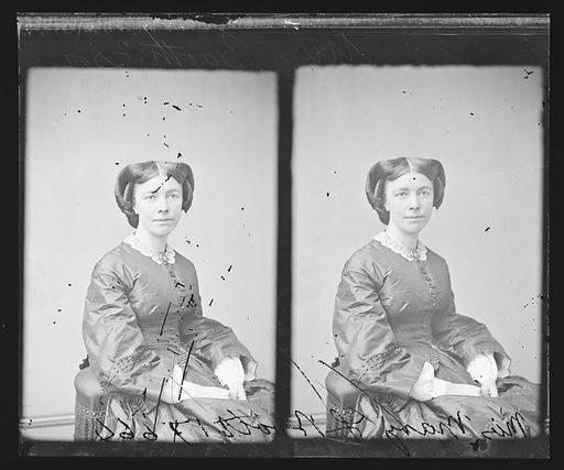 Mary L. Booth. Sitter: Mary Louise Booth, 19 Apr 1831 – 5 Mar 1889. Date: 1860s. Record ID: npg_NPG.81.M454.2.