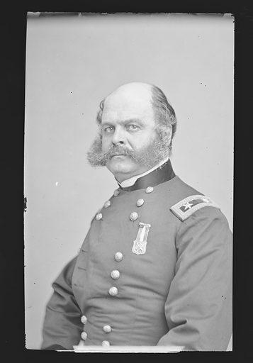 Ambrose Everett Burnside. Sitter: Ambrose Everett Burnside, 23 May 1824 – 13 Sep 1881. Date: 1880s. Record ID: npg_NPG.81.M44.