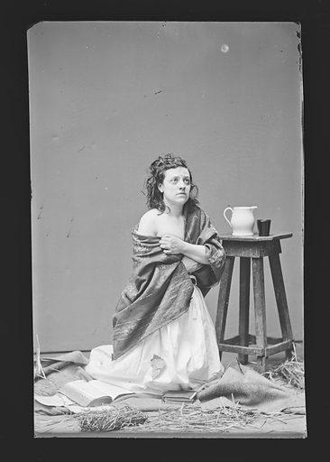 Pauline Cushman. Sitter: Pauline Cushman, 10 Jun 1833 – 2 Dec 1893. Date: 1860s. Record ID: npg_NPG.81.M220.