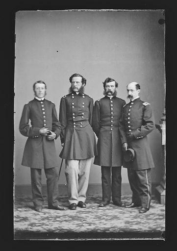 Samuel Wylie Crawford and Staff. Sitter: Samuel Wylie Crawford, 1829 – 1892. Date: 1860s. Record ID: npg_NPG.81.M604.