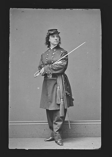Pauline Cushman. Sitter: Pauline Cushman, 10 Jun 1833 – 2 Dec 1893. Date: 1860s. Record ID: npg_NPG.81.M623.