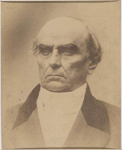 Daniel Webster. Sitter: Daniel Webster, 18 Jan 1782 – 24 Oct 1852. Date: 1870s. Record ID: npg_S_NPG.77.166.