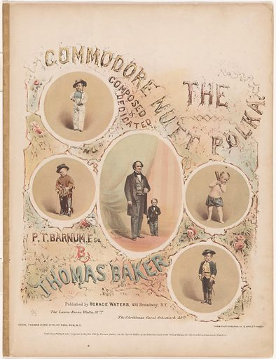 The Commodore Nutt Polka. Sitters: George Washington Morrison Nutt, 01 Apr 1848 – 25 May 1881; Phineas Taylor Barnum, 5 Jul 1810 – 7 Apr 1891. Date: 1860s. Record ID: npg_NPG.95.43.