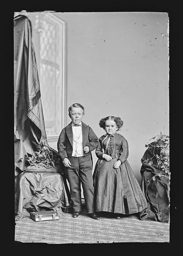 G.W.M. Nutt and Minnie Warren. Sitters: George Washington Morrison Nutt, 01 Apr 1848 – 25 May 1881; Minnie Warren, 1842 – 1878. Date: 1860s. Record ID: npg_NPG.81.M1924.